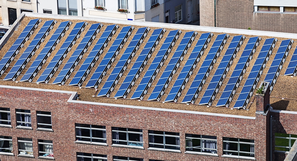Commercial Solar Panel Installation with Sunpower Panels